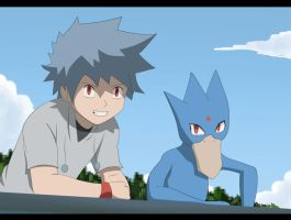 Foto: Kazuo y Golduck by All0412