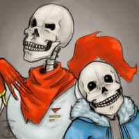 Papyrus and Sans by RoslynnSommers