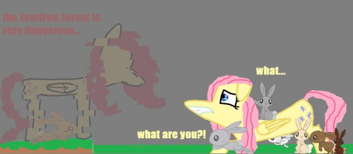 Slendershy (Fluttershy's Bunny Rescue) by Gamergirl6456