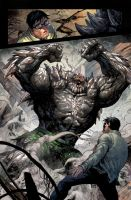 Doomsday vs Clark Kent by arf