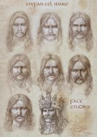Stefan the Great _face studies by catalinianos