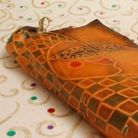 Leather Book with Jester by gildbookbinders