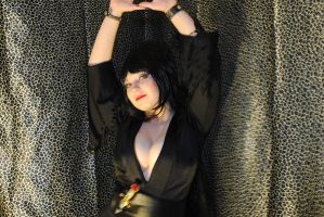 Elvira MotD: Leapord Curtain by LadydragonQueen