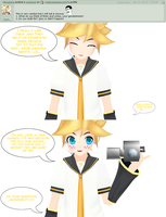 Answer to Question 102 - Genderbents/Stalking Rin by AskKagamineLen02