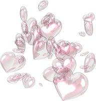 Pink Hearts PNG by SugarPaula