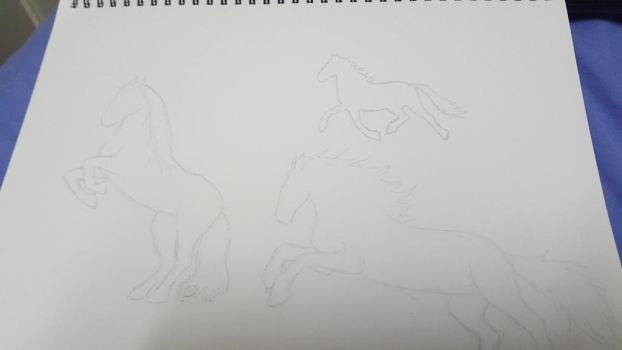 Horses WIP by ThatKilledMe