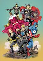 Avengers Color by deankotz
