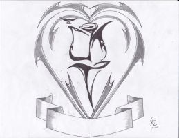 TRIBAL HEART CREST by lrayjus21