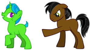 Saurus and Lucy are Ponies by Proceleon