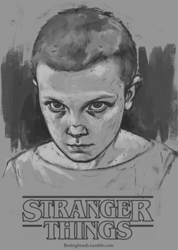 Eleven from Stranger things by Unilt