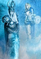 Lich King and Paladin Arthas Cosplay by HanHanx3