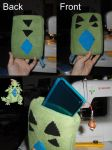 Custom Pokemon 3DS Case: Tyranitar by Aemi