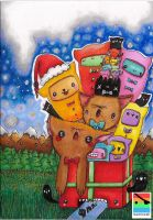 christmas card design: the cat christmas card by mominomi
