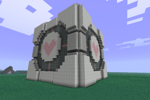 Minecraft Companion cube by HifeyNyan