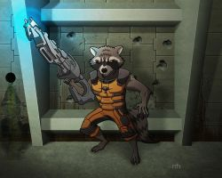 Rocket Raccoon by Veil1