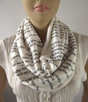 Love Poems Infinity Scarf...Emily Dickinson...Circ by LiliaVanini
