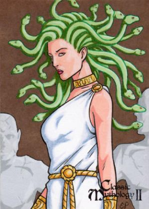 Medusa Sketch Card - Classic Mythology II