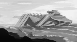 A Marooned Ship by Murimu