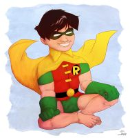 The First Robin by Shembre