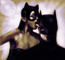 THE catwoman AND batman by gavwoodhouse