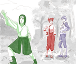 Neji and Lee switched by steampunkskulls