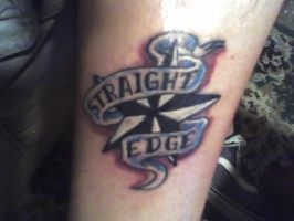 Straight Edge Tattoo by xfalseidolfallx