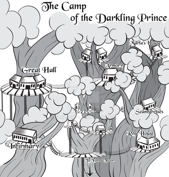 The Camp of the Darkling Prince Map by Taellosse