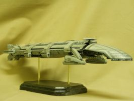 Starship Athena Side by dinobatfan