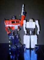 Optimus Prime And Leader 1 by CyberDrone