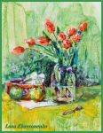 Still life with tulips by LORETANA