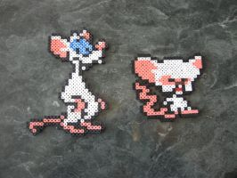 Pinky and the Brain Perler by rushtalion
