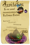 Invitation for PPG artists only: HALLOWEEN PARTEH by ITBluebeadTI