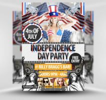 Independence Day Flyer Template II by quickandeasy1