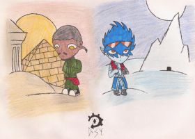 sand and snow by ShuangOrion