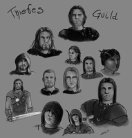 Thieves Guild doodle by Haekate