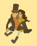 Layton and Emmy, I guess by JACKSPICERCHASE