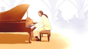 Glen and Piano by mllebienvenu