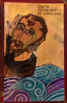 St. Joseph of Cupertino - Icon by ViolaCaeli