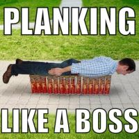 Planking.... Like a boss by AgentKit95