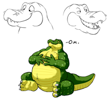 Chubby Gator by Drake-Dragon