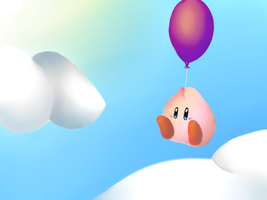 Kirby Explores the Sky by SillyEwe