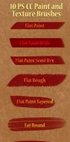 10 Paint and Texture Brushes by kendrin