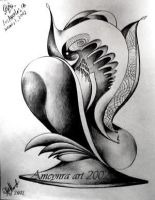 House from the land of Absurd. Abstract pencil art by SOFIAMETALQUEEN