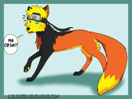 What..?? - Naruto fox by liliacee