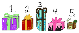 Christmas adoptables-Closed by WTG-Adoptables