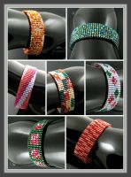 Slim bead loomed bracelet 'Snap and wrap' by CatsWire