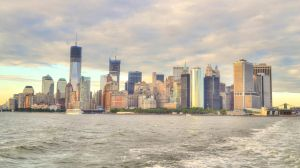Lower Manhattan from ferry by ebonneau