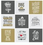 Dogs and Cats lovers typography by grazrootz