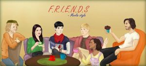 Merlin, Friends AU by KingAndSorcerer