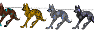 Semi-Sparkle Adoptable Wolves by Refisadopts